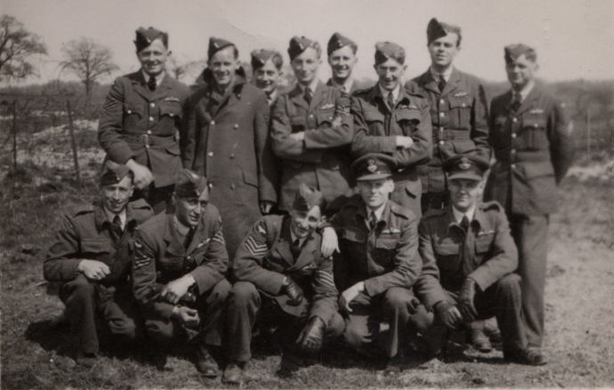 Wilfrid Riches with other pilots including Pelletier