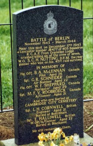 The memorial stone at Yelling