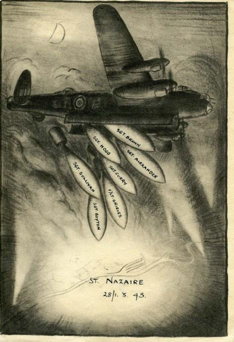 Brown, Kenneth, raid card St. Nazaire
