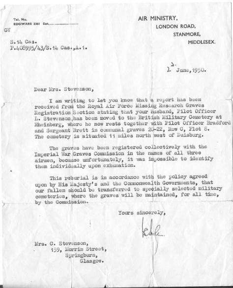 Stevenson - Letter