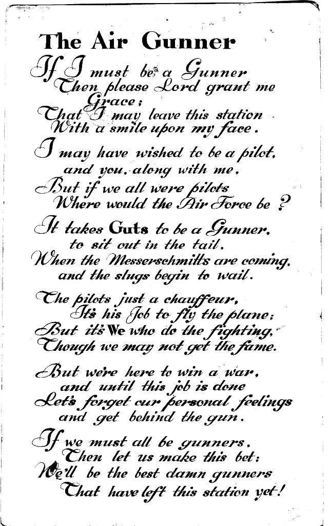 Airgunner poem