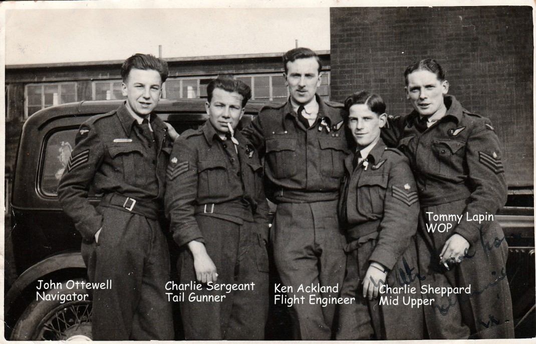 Lancaster Crew 1944 Captioned