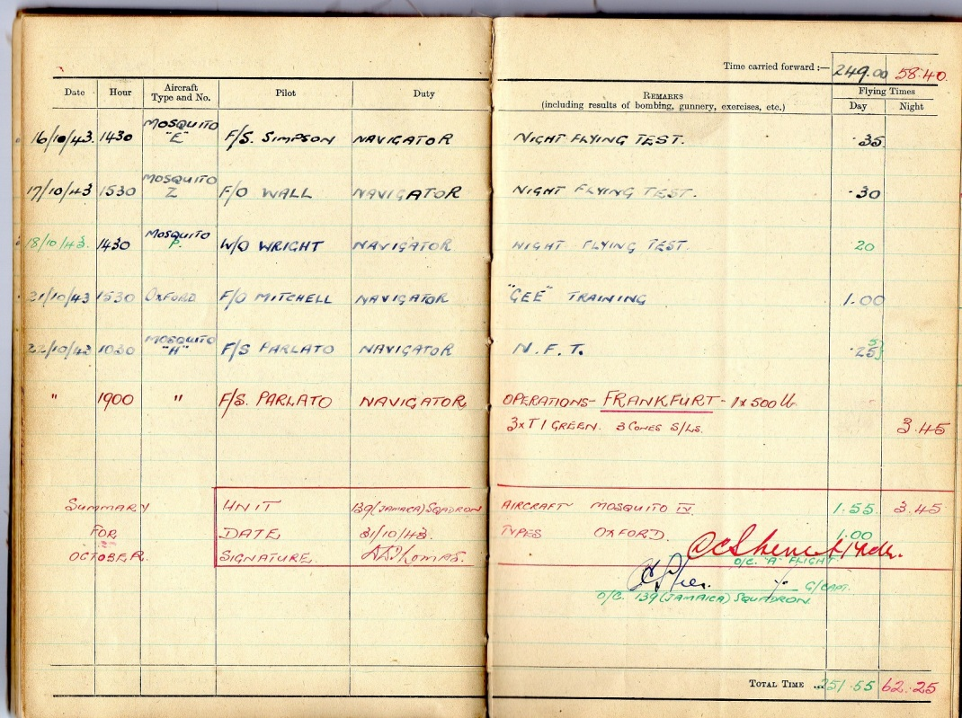 logbook october 1943